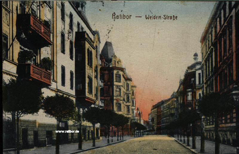 Weiden-Straße in Ratibor